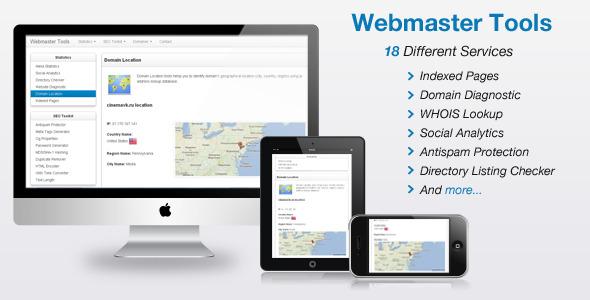 دانلود اسکریپت ابزار وبمستر Webmaster Tools v2.5